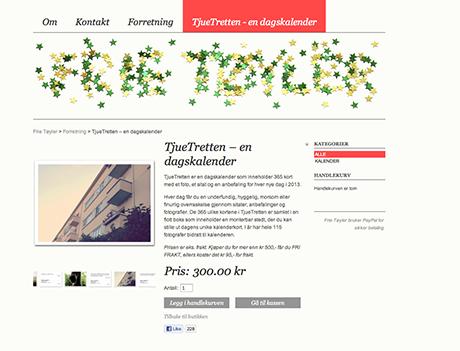 Kalenderen er til salgs på Frie Tøyler sin nettside.