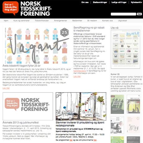 STEMMERPRIS og illustrasjon har campet på Norsk Tidsskriftforening sine nettsider.