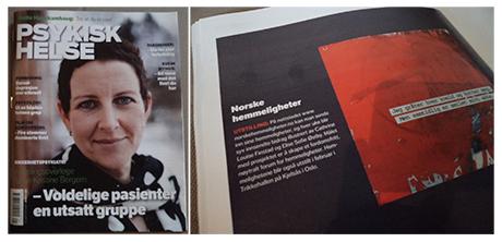 Sånn her så det ut sist NORSKE HEMMELIGHETER var på trykk i Bladet Psykisk Helse.