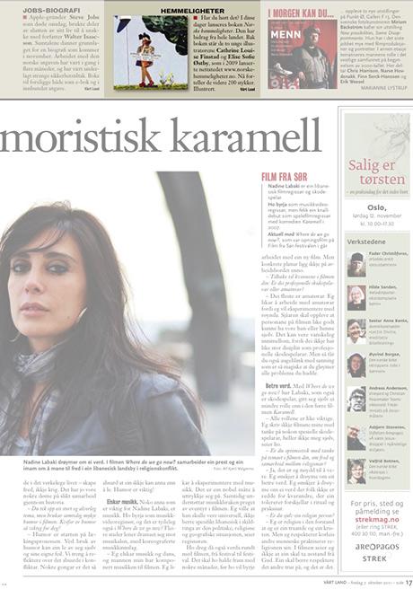 Sånn så det ut da Vårt Land skrev om bok NORSKE HEMMELIGHETER den 7. oktober 2011.