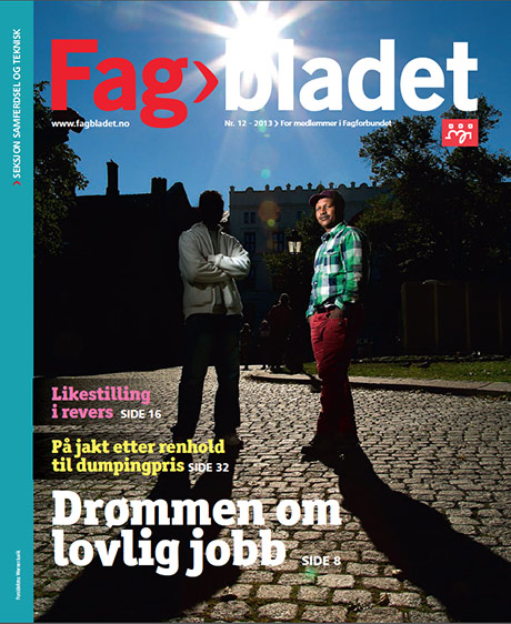 Forsiden på Fagbladet. Kilde: skjermdump