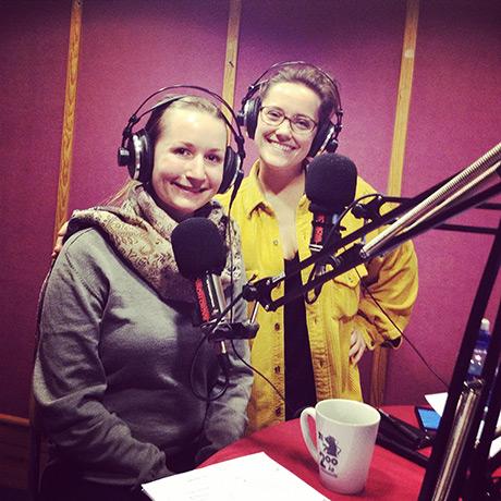 Disse fine damene var jeg i studio med! Hedda Rosenberg og Ingrid Torjesen.
