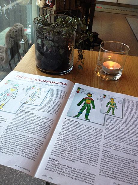 Jeg har lest om kunstterapi i medlemsbladet Rubin. (Kunstterapiforeningen)
