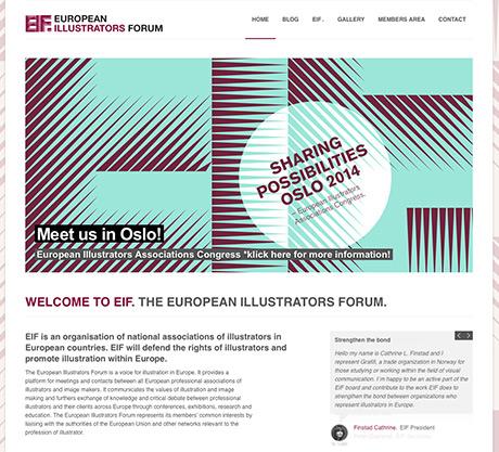 European Illustrators Forum sprer budskapet på nett.