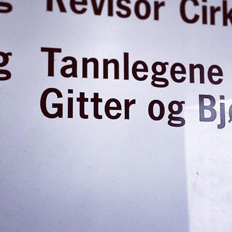Tipper tannlege Gitter driver med reggis...