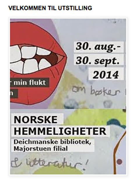 På norskehemmeligheter.no har vi også laget til en ekstra infoknapp om utstillingen.