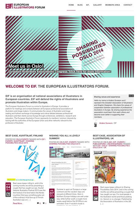 european-illustrators-forum.com oppdateres jevnlig frem mot eventet i oktober.