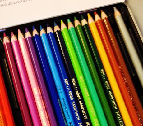 Etter forelesningen var det på tide å finne frem fargeblyanter.