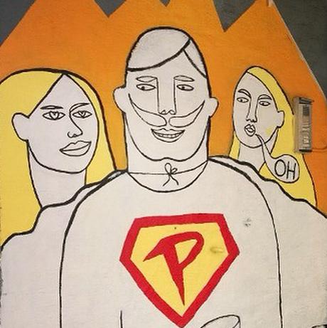 Et av NORSKE HEMMELIGHETER sine kunstneriske bidrag er et veggmaleri i inngangspartiet på Parkteatret. Her er en sniktitt!