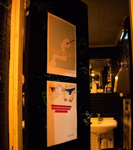 Hemmelighetene som dekorerte toalettene ble nøye valgt ut.