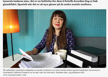 Alle hemmeligheter som sendes inn til NORSKE HEMMELIGHETER blir lest og tatt vare på. De som deler og leser hemmeligheter bidrar til at prosjektet stadig vokser seg større. Tusen takk! Foto: skjermdump fra nrk.no/ arkivfoto: SUSANNE EGSET