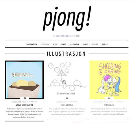 Pjong! skriver om illustrasjon og der er NORSKE HEMMELIGHETER med!