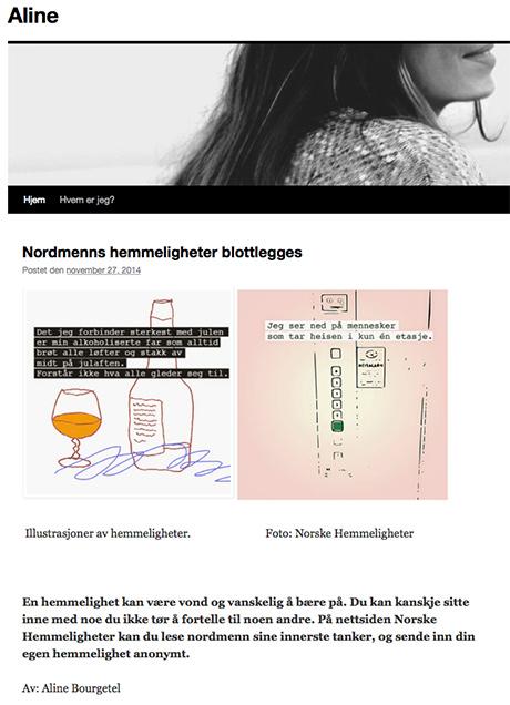 Artikkelen er levert som skoleoppgave og publisert som bloggartikkel på Aline Bourgetel sin blogg.