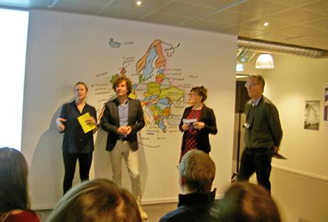 Arbeidsgruppa for arrangementet er også avbildet. Tyra von Zweigbergk, Martin Biehl Anders Suneson og meg selv.