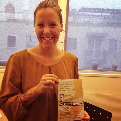 Anna før hun skla promotere Drømmeukene under årets Arendalsuka.