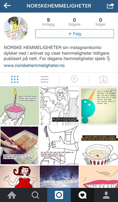 Gamle kjenninger får en velfortjent reprise nå som NORSKE HEMMELIGHETER har fått seg instagramkonto!