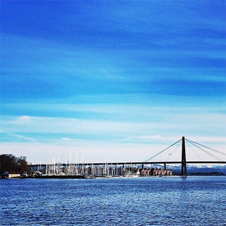 Stavanger smilte i blåtoner hele oppholdet! For en hyggelig by og for en glede å få vårfølelse allerede i februar!