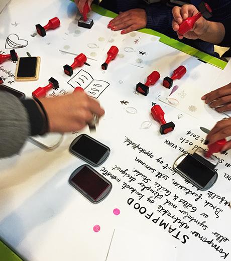 Workshop av Gilles & Cecilie: Food stamps!