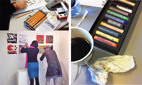 OG noen minnebilder fra forrige gang jeg gjesteforeleste og holdt workshop på HiOA. Det var en drøm!