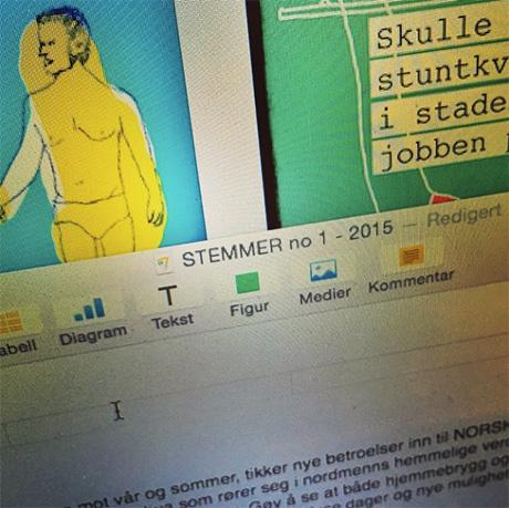 Redigert og klart! NORSKE HEMMELIGHETER er snart på trykk i tidsskriftet STEMMER.