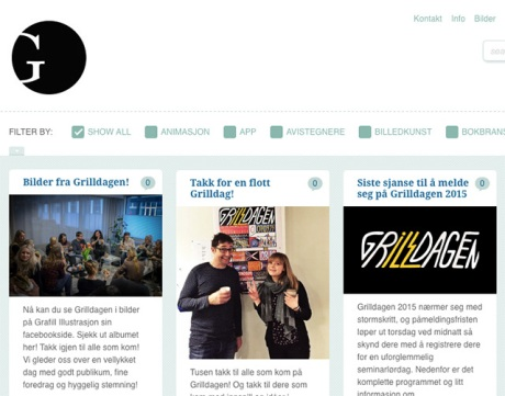 Grafill Illustrasjon sin blogg oppdateres også med nyheten om at bilder fra forrige helgs arrangement nå ligger ute på nettet!
