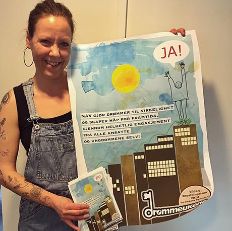 Prosjektleder Anna-Sabina Soggiu er klar for nye konferanser med nytt markedsmateriale.