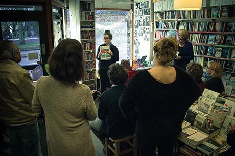 Muntlig innslag i en bokhandel