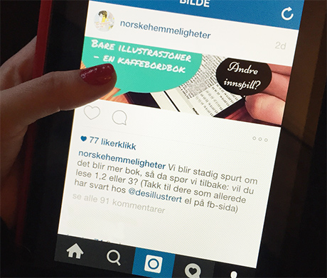Vi spurte publikum på @norskehemmeligheter og @desillustrert på Instagram og på NORSKE HEMMELIGHETER sin facebookside. For en fin lektyre det var å lese igjennom. Nesten så man ikke merka at mørket senka seg i rommet!