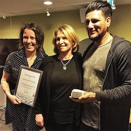 Drømmeukene fikk Brosteinprisen 2014. Vel fortjent. Her er Anna, Hanne og Gomi fra NAV bydel Grünerløkka.