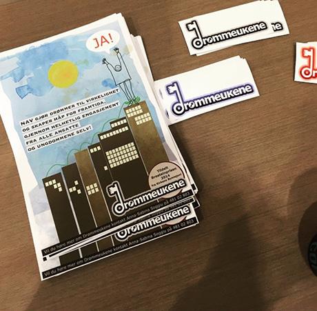 @sabinasoggiu (Instagram) deler et utvalg av trykksakene som er med på Mulighetskonferansene.