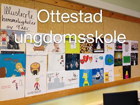 9 ABC på Ottestad ungdomsskole har illustrert hemmeligheter.
