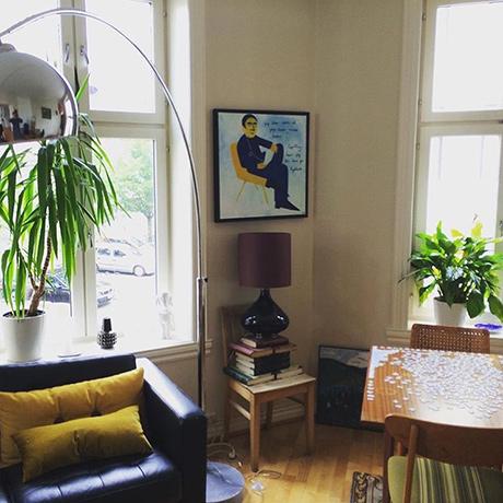 Hemmelighet på feggen i sitt nye hjem. (Kilde , med tillatelse: Instagram @gudrunjevne)