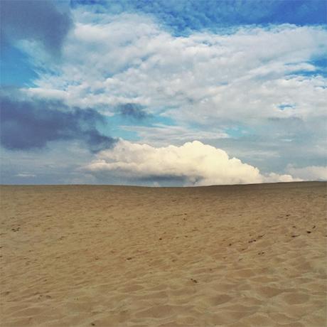 Skyer og sand i Skagen