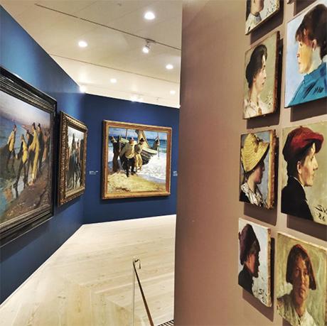 Damer og menn på Skagens Museum