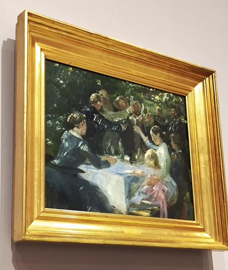 Hip, hip, hurra! av P.S. Krøyer (Skissen, selve verket finnes i Göteborgs Kunstmuseum)