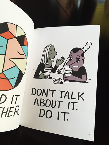 En kikk i en Jeremyvillebok  med et godt råd det er verdt å ta med seg når man jobber for seg sjøl. GJØRE.