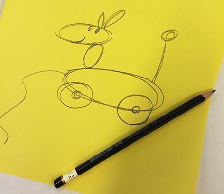 05g_lekehund_HiOA_digital_kunst_CathrineLouiseFinstad_desillustrert_illustrasjon_foredragsholder