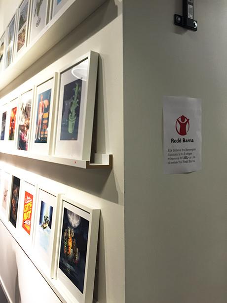 Alle inntekter fra utstillingen går til Redd Barna.